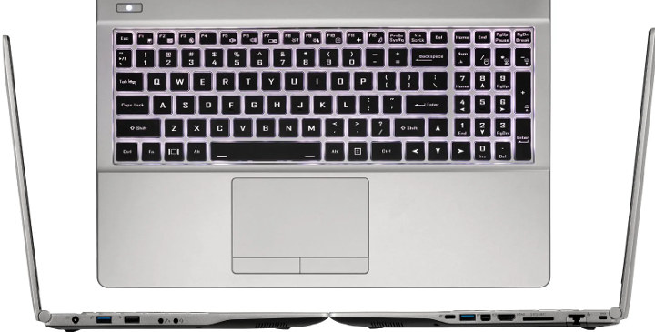 System76 Galago Daster Keyboard & Ports