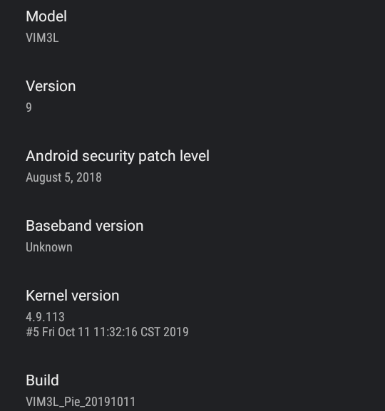 VIM3L Android 9.0 Firmware