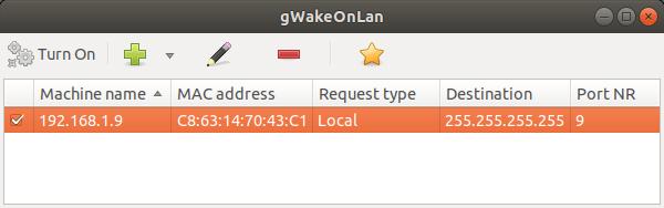 gWakeOnLan