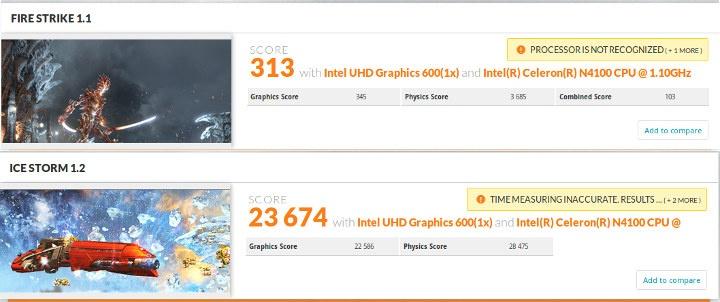 3DMark Intel Celeron N4100