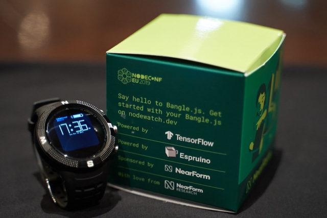 Bangle.js open source smartwatch running JavaScript and TensorFlow Lite