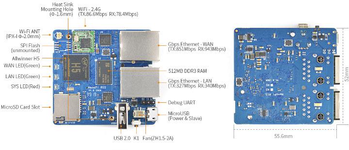 NanoPi R1S SBC