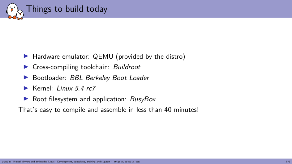 embedded Linux RISC-V QEMU Buildroot