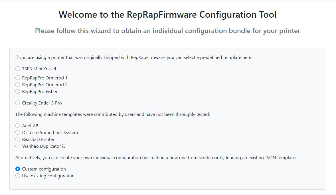 RepRap Firmware Configuration Tool