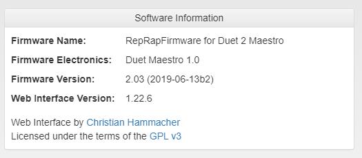 RepRap Firmware 2.03