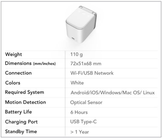 PrinCube Specifications