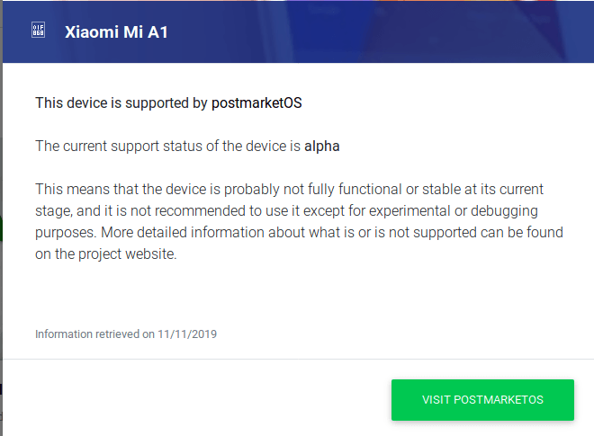 Xiaomi Mi A1 Linux Support