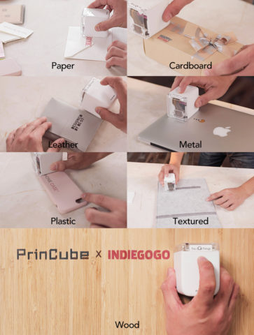 PrinCube Printer prints on any materials