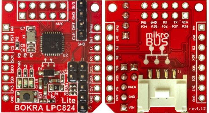 BOKRA LPC824 Lite MikroBUS MCU Module