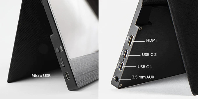 DeskLab 4K Portable Display Ports