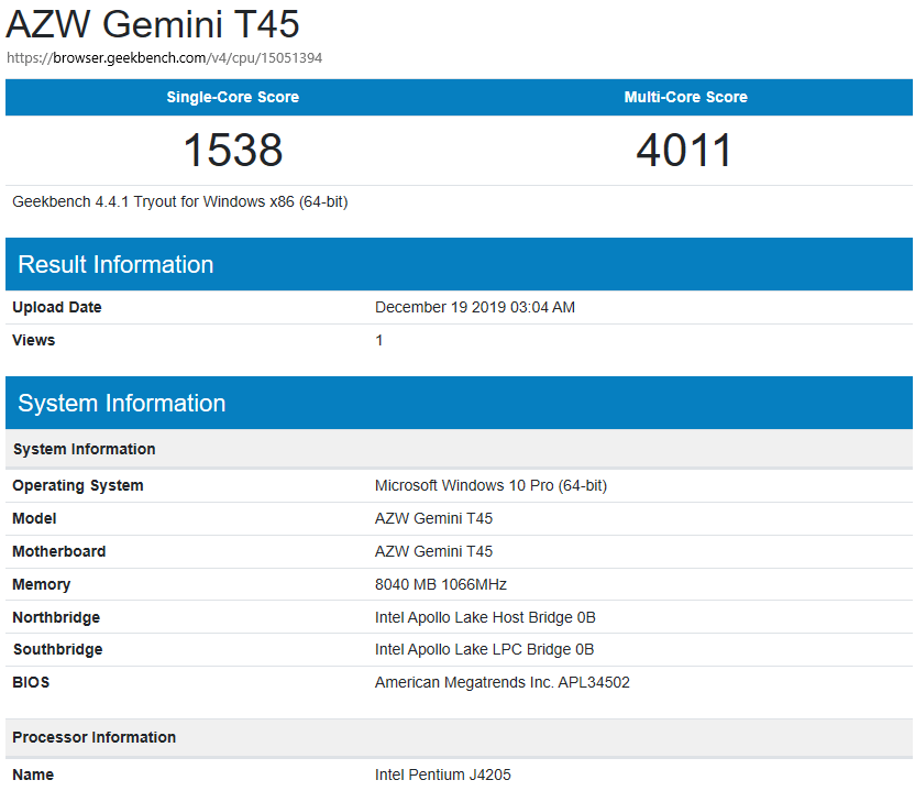 Gemini-T45-windows-geekbench4-cpu