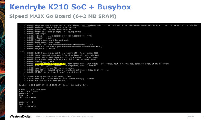 Kendryte K210 RISC-V uCLinux