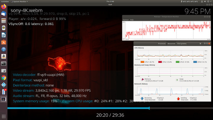 Ubuntu T45 cooling effectiveness
