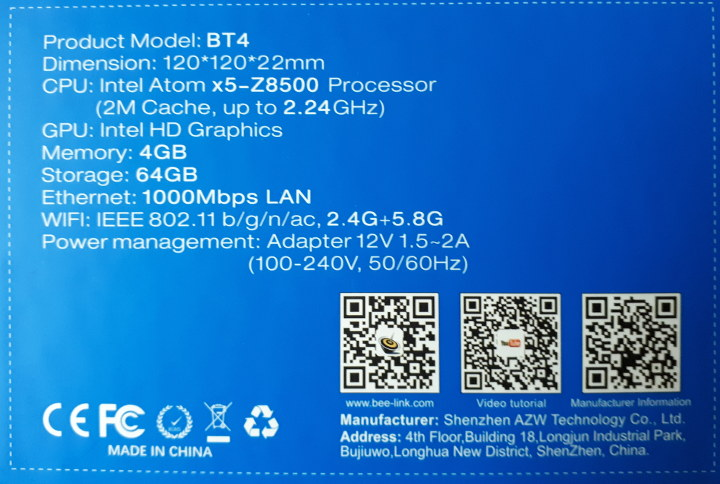 BT4 Specifications