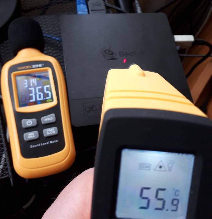 Beelink BT4 external temperature