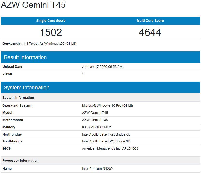 Beelink-Gemini-T45-Review-windows-geekbench4-cpu
