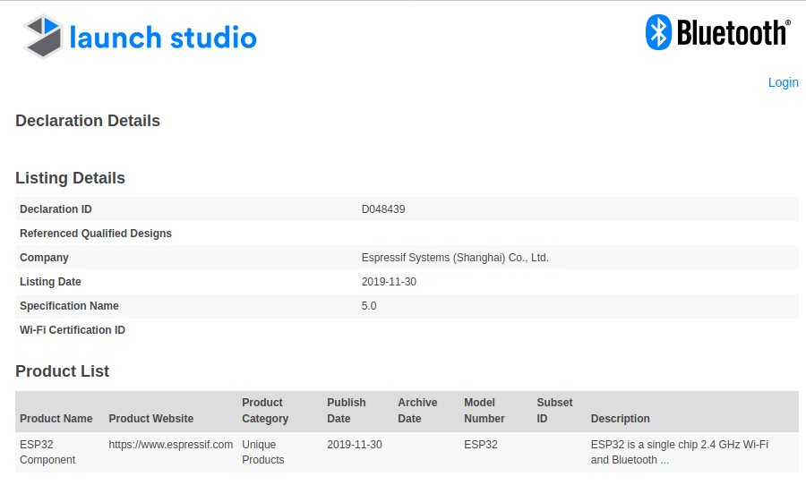 ESP32 Bluetooth 5.0