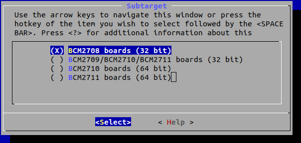 OpenWrt Raspberry Pi Subtarget