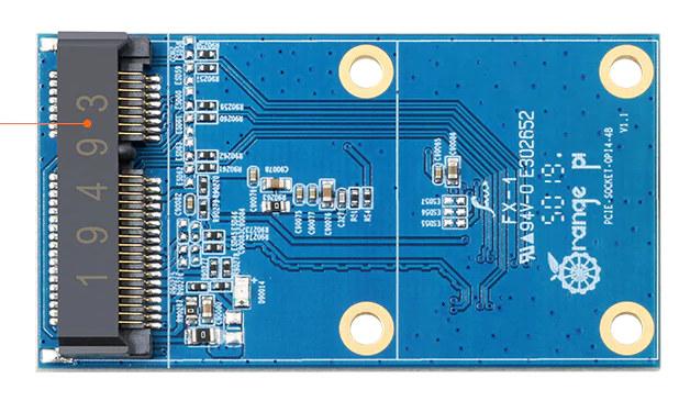 Orange-Pi 4 PCIe Expansion Board