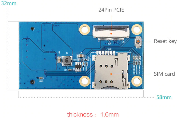 Orange Pi 4-mPCIe SIM Card