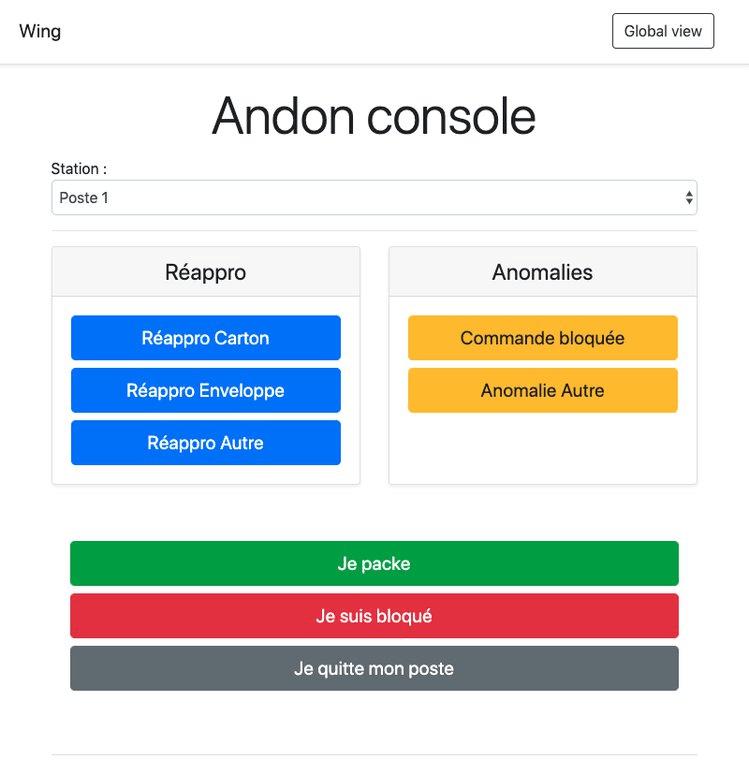 Andon console ESP8266