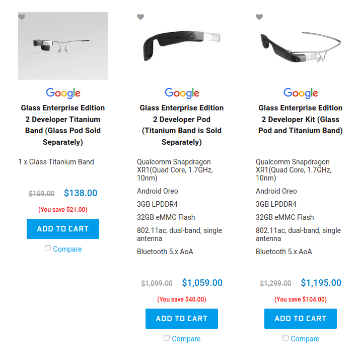 Buy Google Glass Enterprise Edition 2