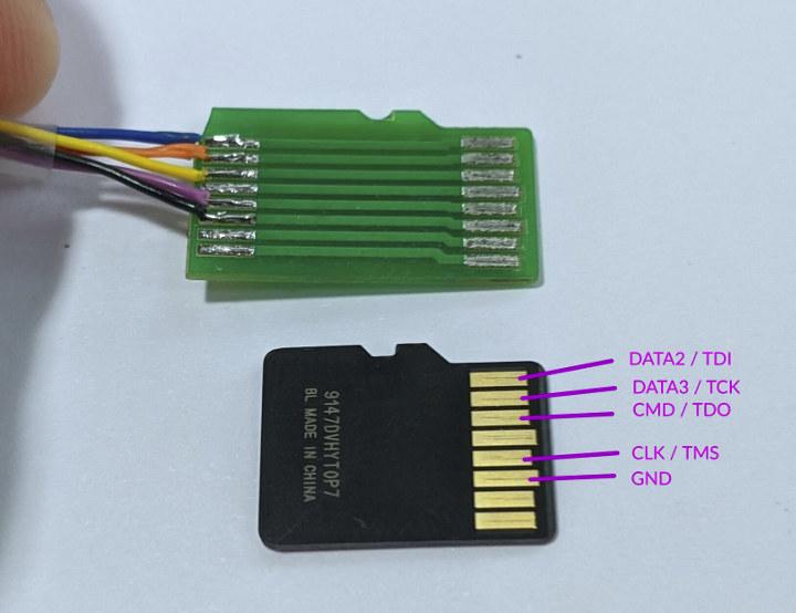 ESP32 JTAG MicroSD Card Adapter