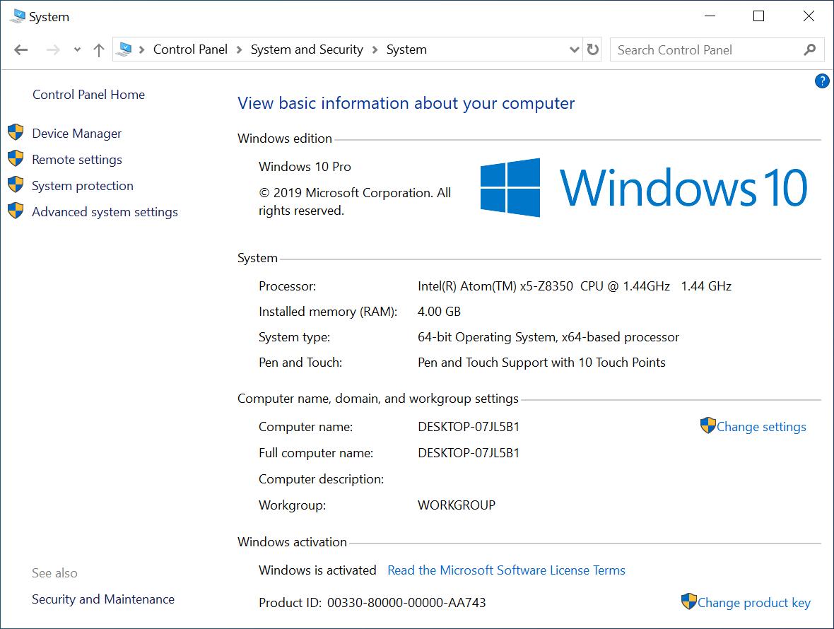 GOLE F7 Windows 10 System