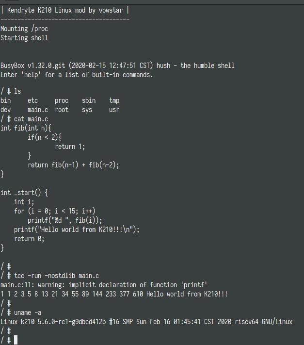 Kendryte K210 Linux