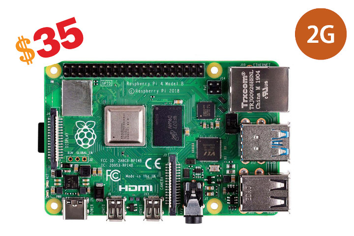 Raspberry Pi 4B 2GB 35 Dollars