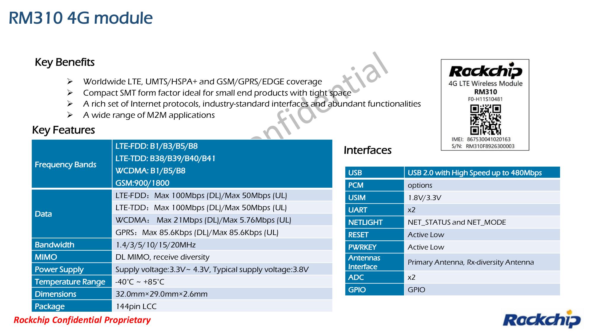 Rockchip RM310 4G Module