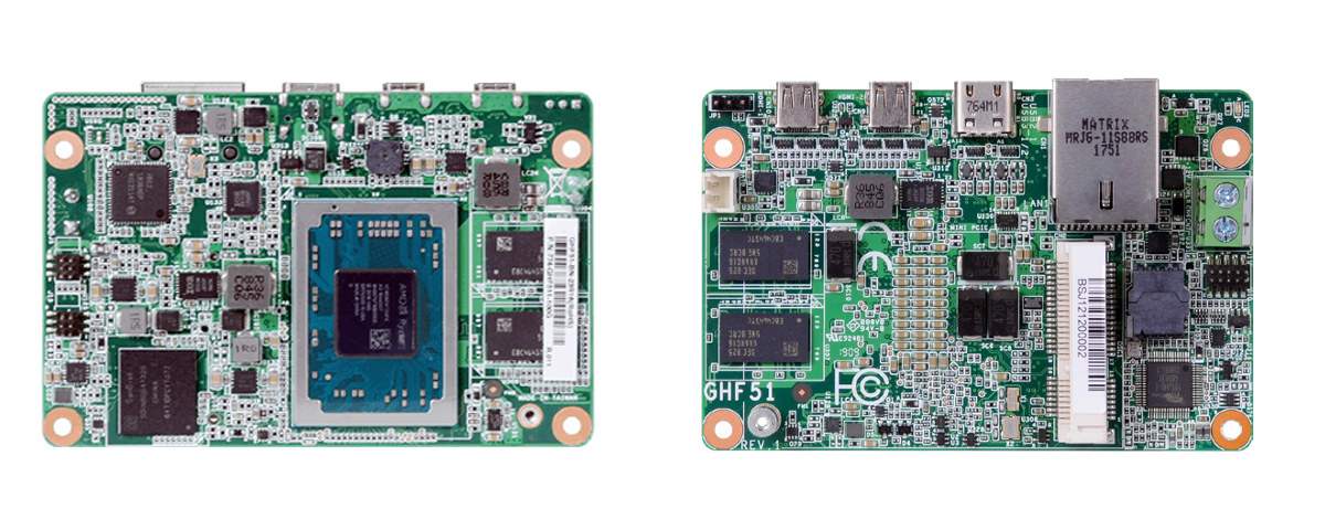 DFI GHF51 1.8-inch Ryzen Embedded SBC