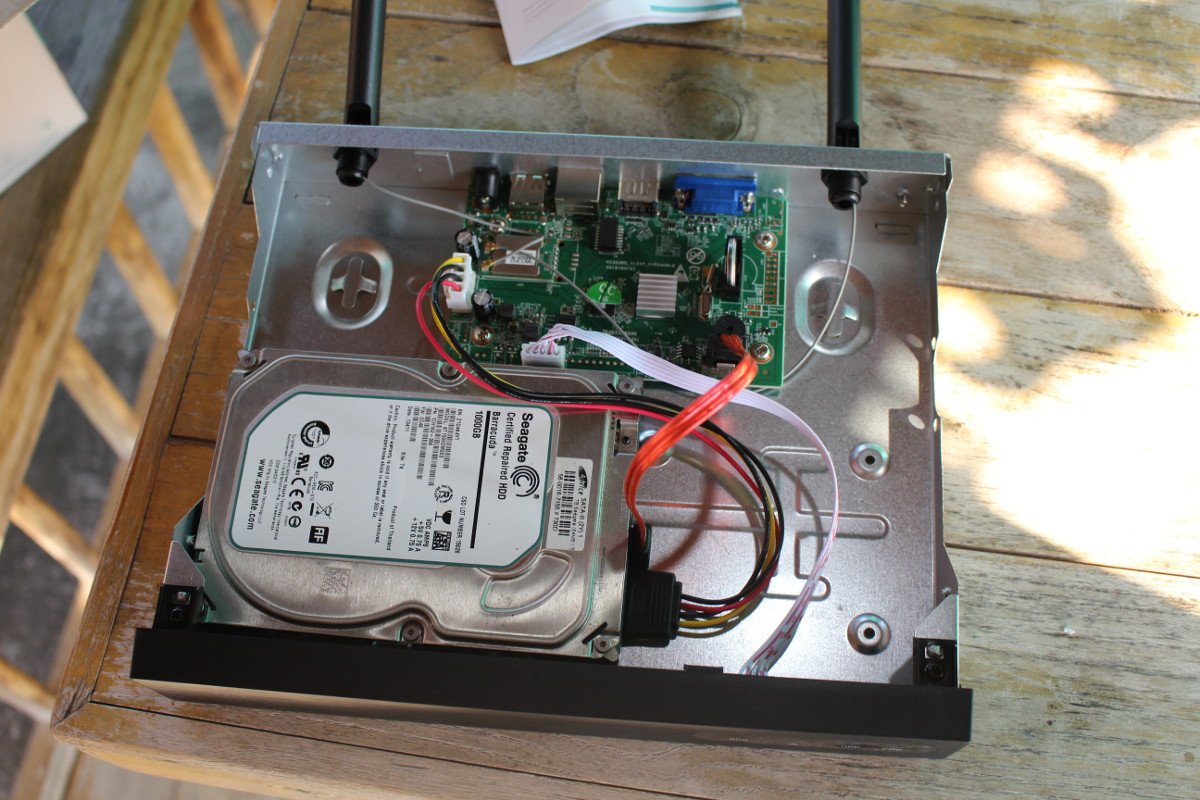 HM241 NVR HDD Installation
