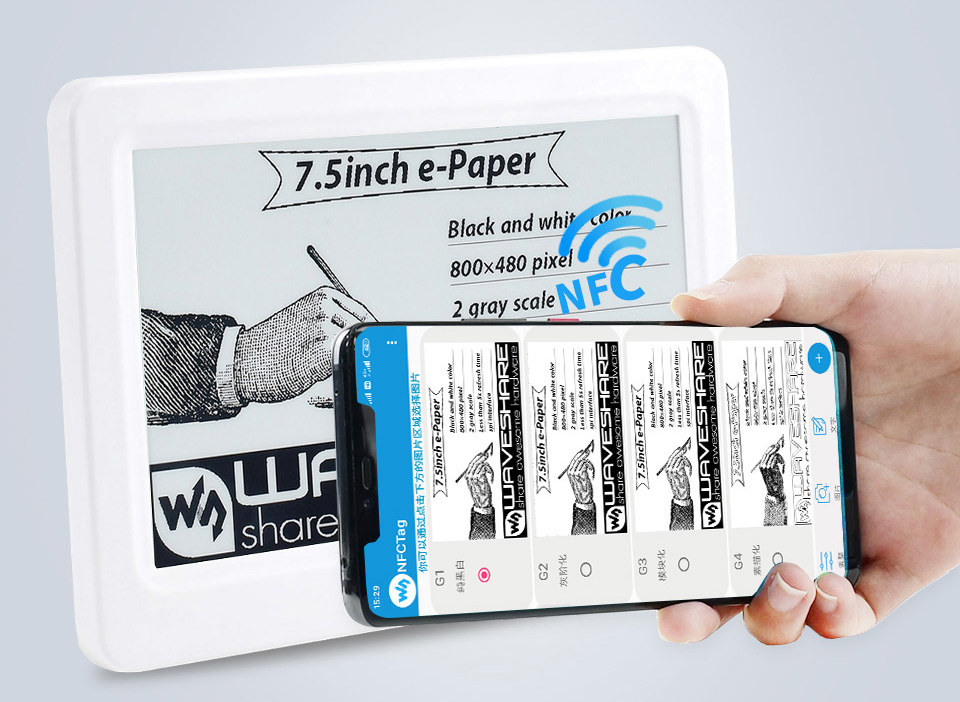 NFCTag App for NFC-powered-e-Paper Display