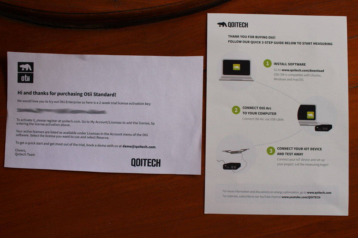 Welcome Card & Quick Start Guide