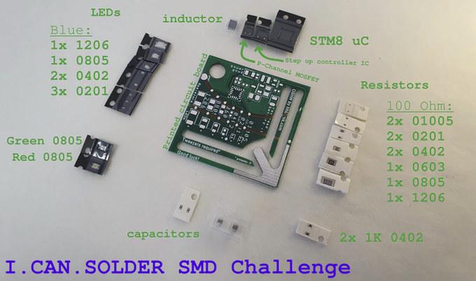 I.Can.Solder SMD Challenge PITA