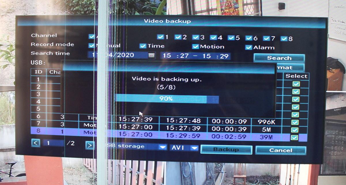 NVR Video Backup