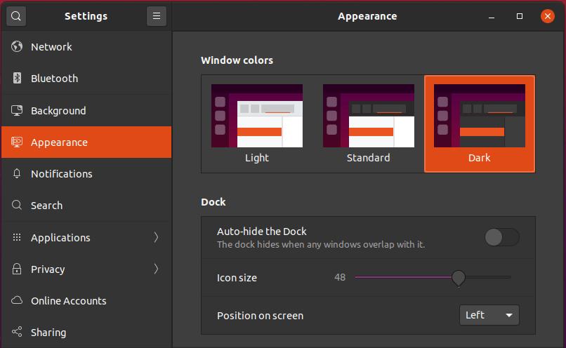 Ubuntu 20.04 Light & Dark Themes