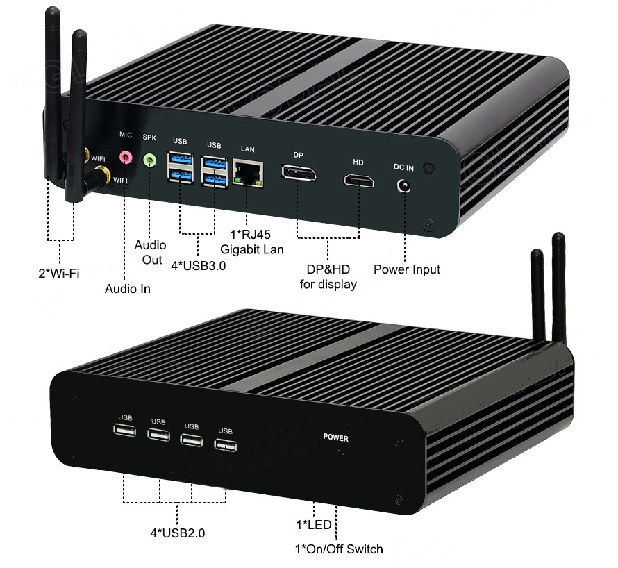 fanless comet lake mini pc