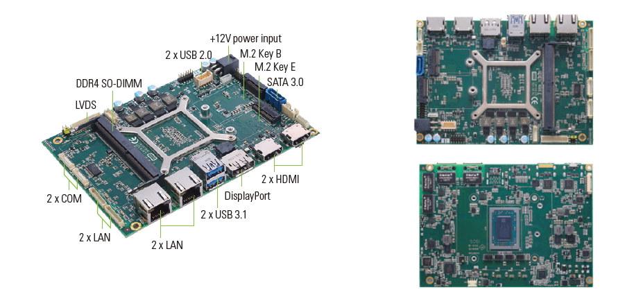 Axiomtek CAPA13R Ryzen Embedded V1807B SBC