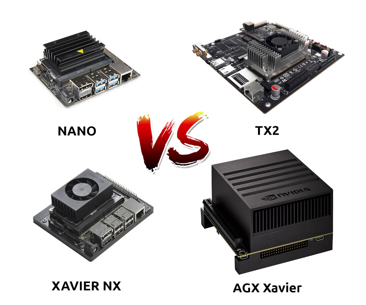 Jetson Developer Kits Comparison: Nano vs TX2 vs Xavier NX vs AGX Xavier