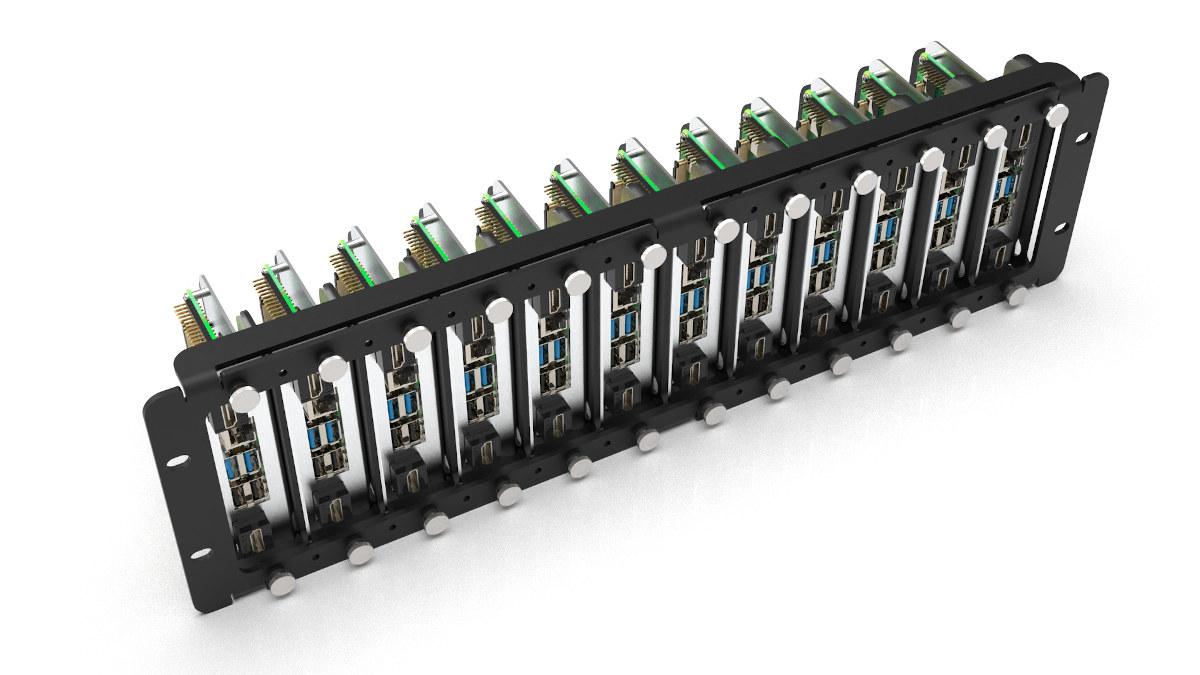 Rackmount 12 Raspberry Pi & HDMI