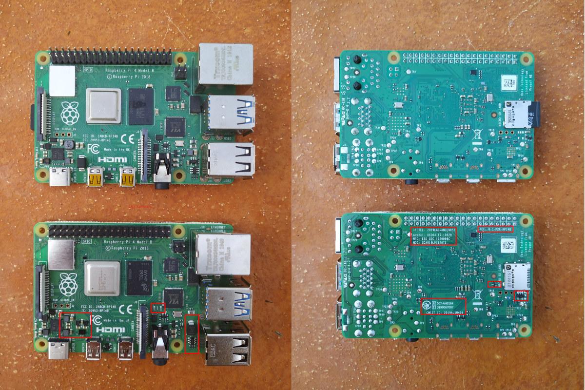 Raspberry Pi 4-8GB Hardware Differences