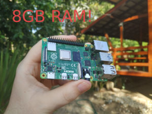 Raspberry Pi 4 with 8GB RAM