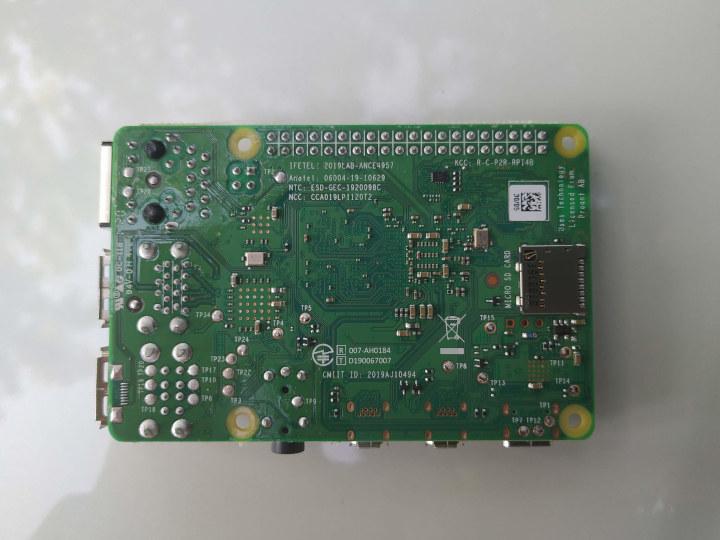 Raspberry Pi 4 Board Back