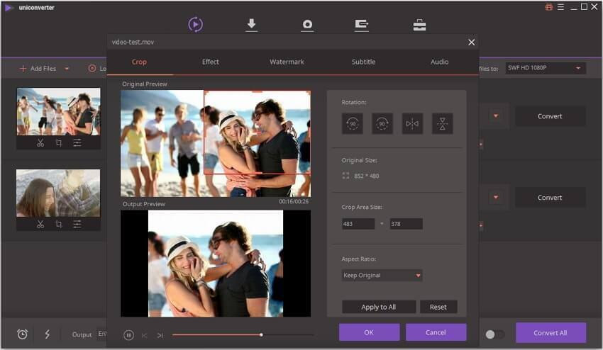 Uniconverter Video Editor