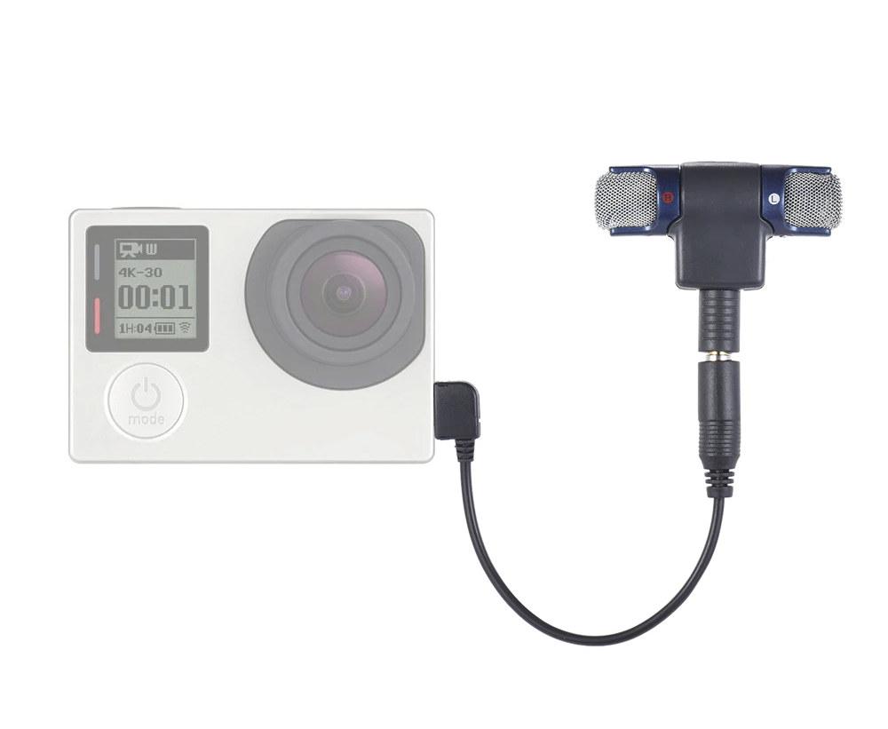 Stereo microphone go pro camera