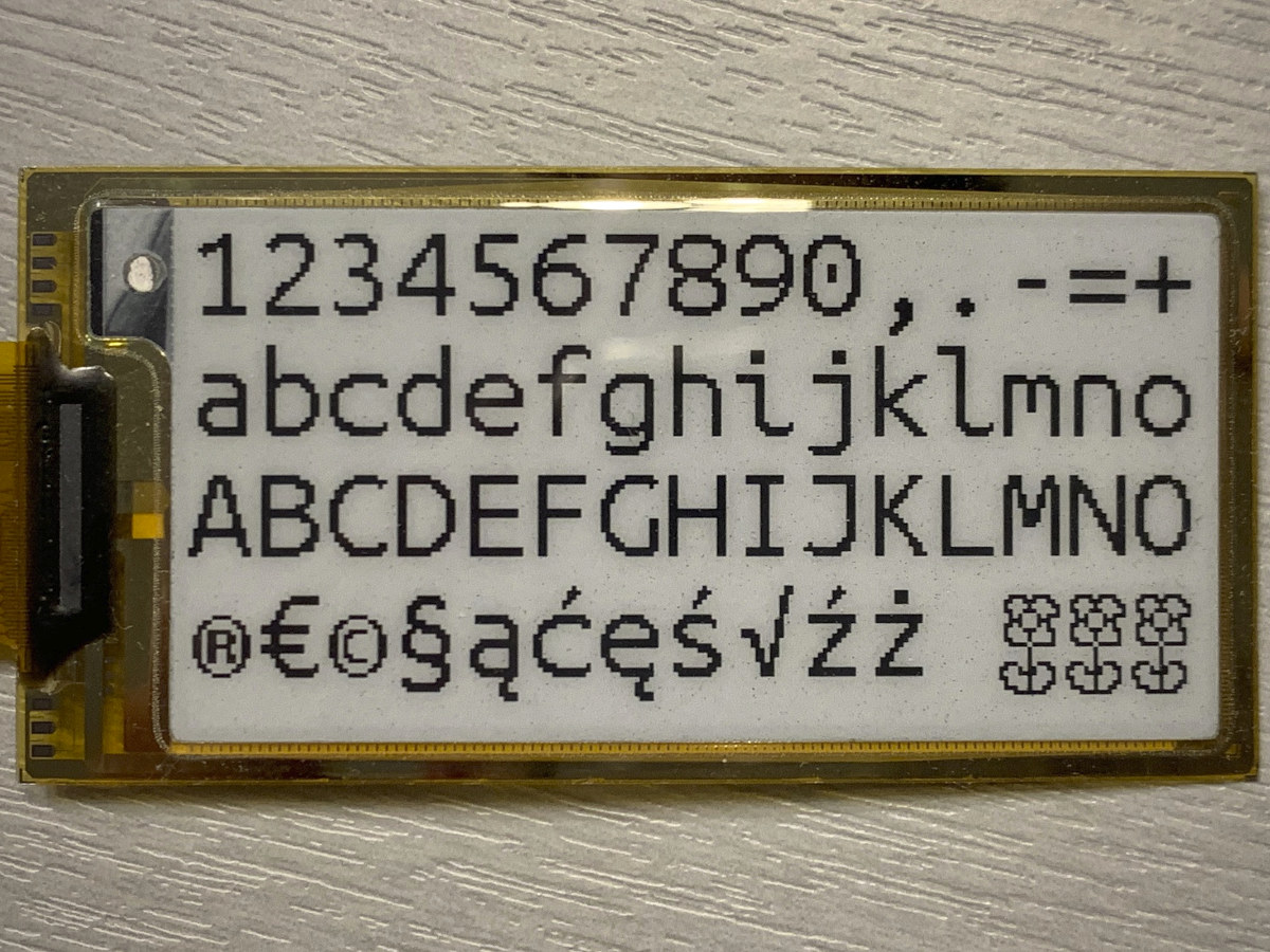 Font E-Paper Display
