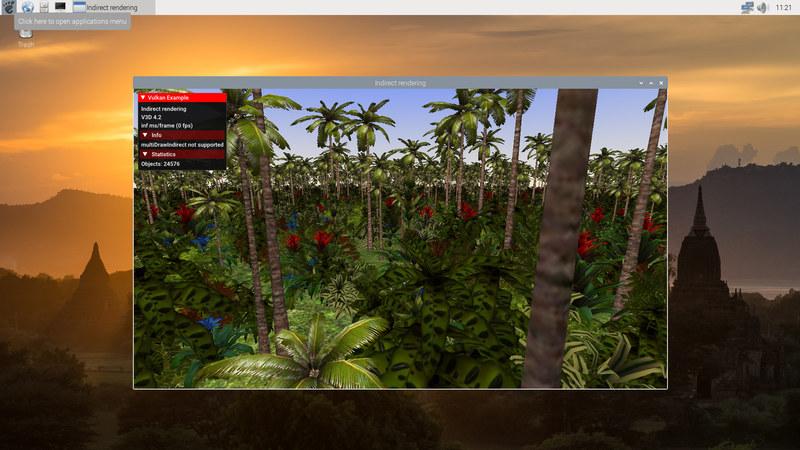 Raspberry Pi 4 Vulkan Demo