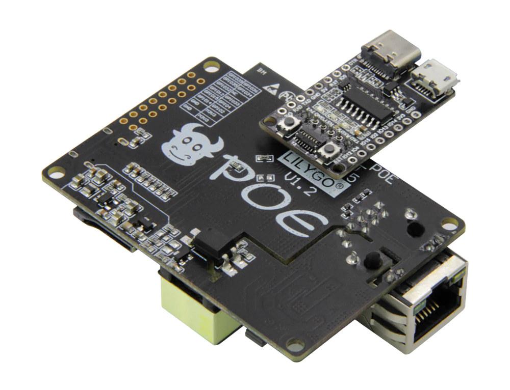 TTGO T-Internet-POE with Downloader Board